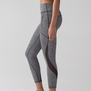 Lululemon Invigorate Black Crop Tight Leggings
